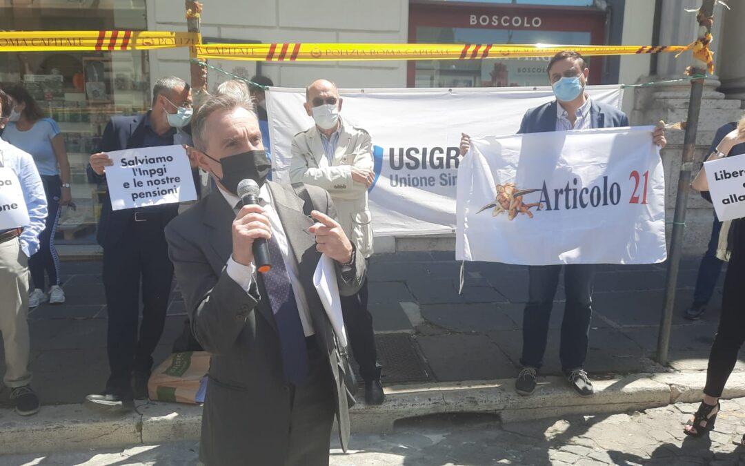 Massimo Marciano: «I temi della mobilitazione dei giornalisti hanno un filo rosso, la Costituzione della Repubblica»